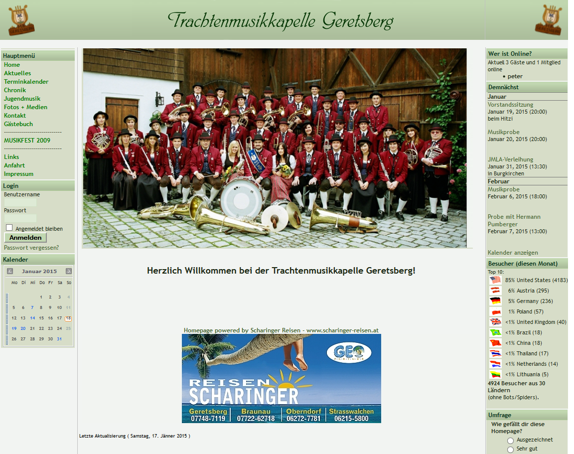 alte Homepage (bis 2015)
